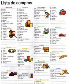 lista de compras de supermercado - Pesquisa Google