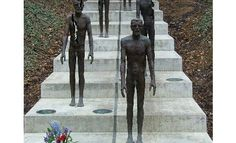 Memorial to the victims of communism in Petrin Park - another favorite place to go