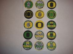 oregon ducks set3 flat back buttons or pin badge cabochons embellishment centers #flatbackoneinchbutton