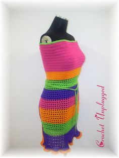 Crochet Apron/Halter top - Colors Pop - Made to Order
