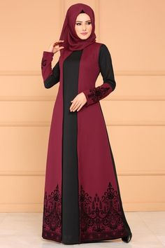 Modest Fashion Hijab, Modern Hijab Fashion, Hijab Fashion Inspiration, Abaya Fashion, Muslim Fashion, Fashion Dresses, Dress Outfits, Mode Abaya, Mode Hijab