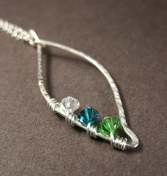 Love this!    Family Tree Birthstone Leaf