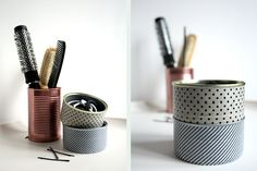 tin cans in the bathroom - www.craftifair.com