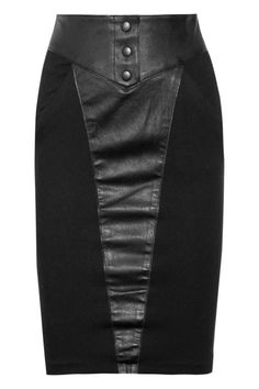 Catherine Malandrino Leather and ponte skirt