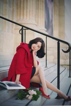only Milkcocoa.858-red Val*ntino Hood Coat