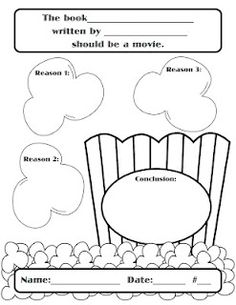 Persuasive Writing graphic organizer with the popcorn theme Persuasive Writing, Teaching Writing, Opinion Writing, Essay Writing, Teaching Ideas, Writing Workshop, Readers Workshop, Popcorn Theme, Hollywood Theme Classroom