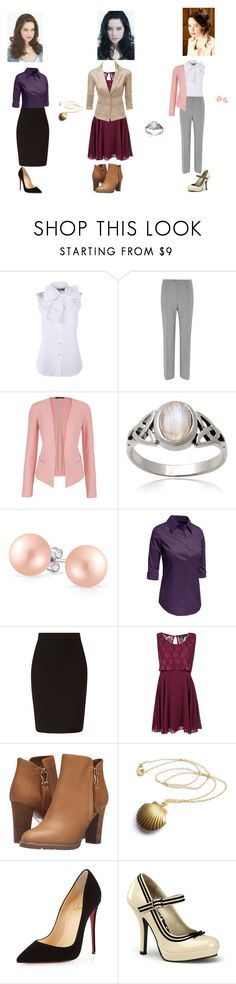 Business clothes (ft. Anna Popplewell) by twirlgirllife on Polyvore featuring Boohoo, LE3NO, Moschino, Doublju, maurices, Viyella, See by Chloé, Christian Louboutin, Pinup Couture and Journee Collection