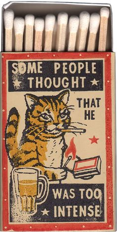 33 Ideas For Cats Funny Illustration Friends Retro Poster, Poster S, Vintage Posters, Pub Vintage, Vintage Cat, Vintage Graphic, Drunk Cat, Half Elf, Matchbox Art