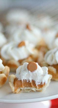 mini butterscotch cream pies....