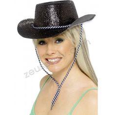 Cappello Cow Boy Glitter Nero