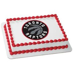 Raptors fans will love to get this Toronto Raptors NBA Edible Cake Topper for any celebration. Be sure to include a personalized message! Basketball Party, Basketball Birthday, Basketball Cakes, Half Birthday Cakes, 7th Birthday, Small Cupcakes, Mini Cupcakes, Toronto Raptors, Birhday Cake