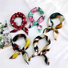 Apparel Accessories Mism Printing Flower Decoration Big Bow Elastic Rubber Bands Hairwear Gum Hair Accessories For Women&girls Plaid Rope Scrunchies Comfortable Feel