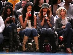 Swag Mean Girls: models Jessica White, Kimora Lee Simmons, and Tyra Banks with Beyonce ♥ Blue Ivy Carter, Solange Knowles, Black Is Beautiful, Beautiful People, Beyonce Coachella, Jessica White, Kimora Lee Simmons, Best Fashion Designers, Tyra Banks