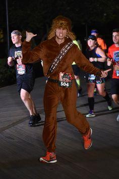 "Chewbacca ""Chewie"" running costume for Star Wars Half Marathon."