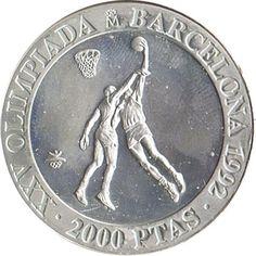 2000 Pesetas 1990 Juegos Olimpicos Barcelona'92 Baloncesto.