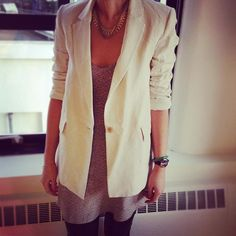 crisp linen blazer, perfect for transitioning into spring!