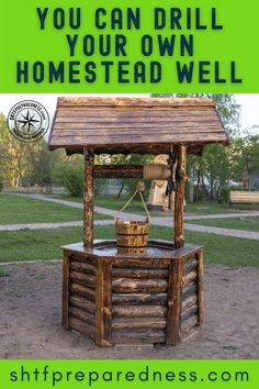 Did you know that you can drill your own homestead well? Having a fresh flow of sterile water is the biggest survival issue, especially when you are living off the grid. Drilling a homestead well could sort this problem out for you and your community. Read the information here to learn more about what your well options are now. #emergencywell #drillawell #homesteadwell #diywell