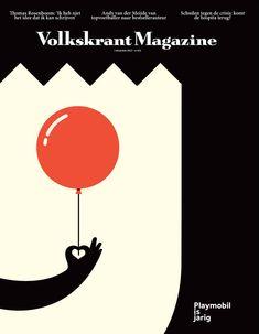 Noma Bar Happy Birthday Playmobil (35 years) for Volkskrant Magazine