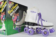 Vintage 1980's Rink Master Roller Skates Purple Size 5 Women's Seneca Sports  #SenecaSports