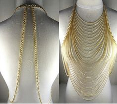 Golden plated body chains jewelry for women by BlueroseFashion, €15.00