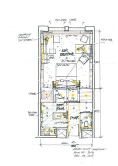 Magnificient Apartment Layout Diagram That Inspiring You Plano Hotel, Floor Plan Sketch, Resort Plan, Apartment Layout, Dream Apartment, Hotel Floor Plan, Casa Loft, Hotel Room Design, Villa Plan