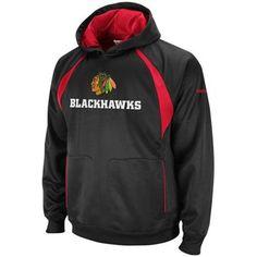Reebok Chicago Blackhawks Synthetic Pullover Hoodie - Black