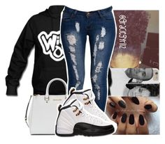 """"""""""" by graciegyrl12 ❤ liked on Polyvore featuring Michael Kors, Boohoo and Retrò"""