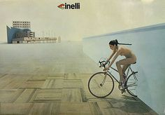 Cinelli Poster, early Iconic Cinelli poster from the early by Italian design studio Alchimia, Alessandro Guerriero and Alessandro Mendini, that was part of the Memphis Group. Cardio, Vintage Cycles, Advertising Poster, Memphis, Erotic, Pin Up, Female, Classic, Photography