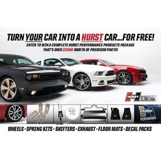 We are giving away over $3500 worth of premium parts! Click on the link in our bio for your chance to WIN a complete Hurst Performance Products package for your car! #Hurst #Giveaway