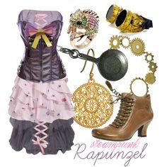 (via Steampunk Rapunzel) Moda Steampunk, Steampunk Clothing, Steampunk Fashion, Steampunk Outfits, Steampunk Wedding, Rapunzel Outfit, Rapunzel Cosplay, Disney Themed Outfits, Disney Bound Outfits