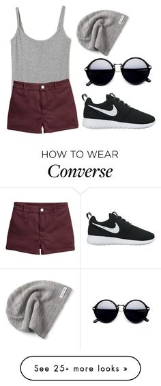 """""""1,000,00"""" by hanooshi on Polyvore featuring NIKE and Converse"""