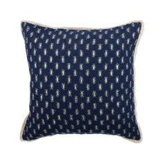 """Denim Blue Couch Pillow 16""""x 16"""" Decorative Couch Cushion Shaggy Distress Denim with Lace Pillow Custom Modern Style Home Decor-Denim Sizzle"""