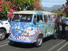 Hippie vans | VW Hippie Van from the Sawdust Festival