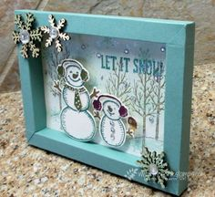 Stamp & Scrap with Frenchie: Frenchie Live tonight ,br>3-D Frame Shadow Box