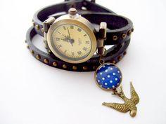 Uhr Wickelarmband SCHWALBE von ALEDANI auf DaWanda.com