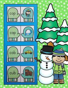 Engaging Mitten Themed Winter Phonics Practice for Your Little Learners!  $ #winter  #mittens #phonics  #CVCwords  #cvc  #KampKindergarten    https://www.teacherspayteachers.com/Product/Winter-CVC-Mitten-Match-Up-2935683