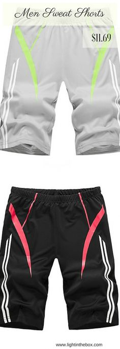 08600003846 Cool sports loose men sweat shorts. Want them  Shop it black and light grey