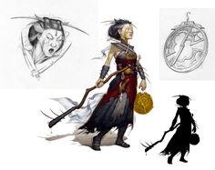 Human witch (from the 5e Dungeons & Dragons Player's Handbook). Art by Rob Rey.
