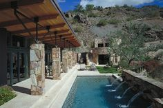 Who wouldn't want to be able to swim everyday?! In your backyard... by a mountain.... ahhh