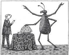 Ilustración del artista estadounidense Edward Gorey   Edward Gorey