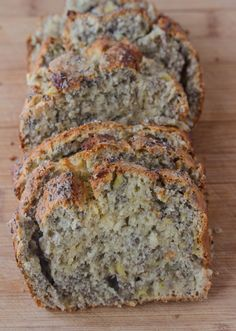 Banana Chia Bread - I wonder how it would taste with almond flour and honey instead of sugar???