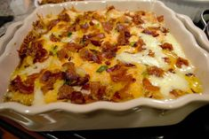 It's like a cross between a loaded baked potato and scalloped potatoes. This casserole is another side you can put together the day before and bake the day of. It wo. Loaded Potato Casserole, Casserole Dishes, Casserole Recipes, Potato Dishes, Potato Recipes, Dried Potatoes, Pasta Sides, Marinated Beef, Just Cooking