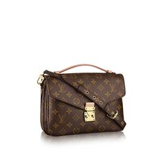 Discover Louis Vuitton Pochette Métis:  Elegance is personified in the petite shape of the Pochette Métis. Made of supple Monogram canvas, its compact dimensions open up to reveal many useful pockets and compartments.