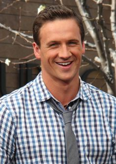 "Ryan Lochte visited ""Extra"" at The Grove."