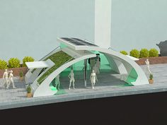 Concept design for Harbin city green bus stop project  2011-2012