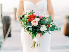 Merlot and warm toned florals | http://adrianamarieevents.com
