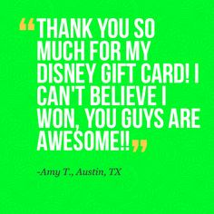 """You're very welcome Amy!!! Congrats on winning a $500 Disney Card in our """"I Want to Win"""" Instagram exclusive contest!!!"""