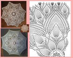 Video: Crochet Gingham in Grey Crochet Doily Diagram, Crochet Lace Edging, Crochet Doilies, Crochet Stitches, Lace Umbrella, Lace Parasol, Crochet Butterfly, Crochet Flowers, Doily Patterns
