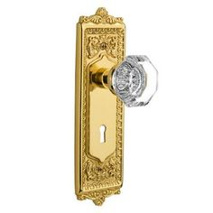 Nostalgic Warehouse Waldorf Interior Mortise Door Knob with Egg and Dart Plate Finish: Unlacquered Brass