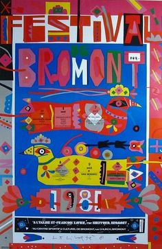 Norman Laliberte (1925-) Hand Signed Large Bromont Poster from Cameleon Exclusively on Ruby Lane